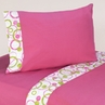 3 pc Twin Sheet Set for Pink and Green Mod Circles Bedding Collection