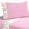3 pc Twin Sheet Set for Pink and Lime Juliet Bedding Collection