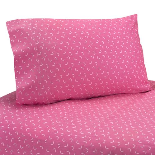 3 pc Twin Sheet Set for Pink Happy Owl Bedding Collection by Sweet Jojo Designs - Click to enlarge