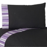 3 pc Twin Sheet Set for Purple and Black Kaylee Bedding Collection by Sweet Jojo Designs