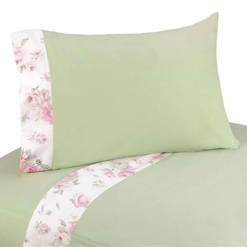 3 pc Twin Sheet Set for Riley's Roses Bedding Collection - Click to enlarge