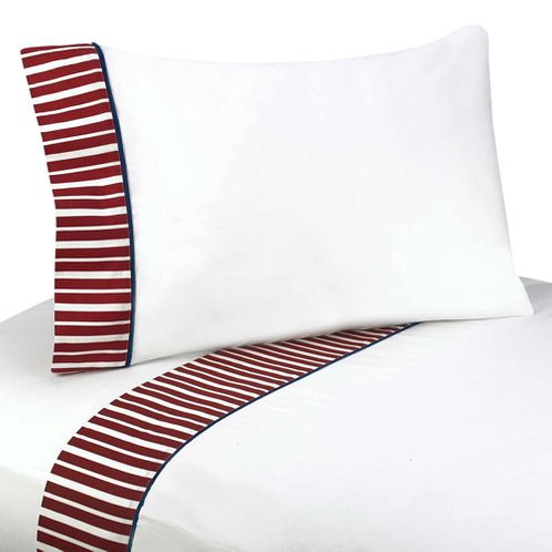 3 pc Twin Sheet Set for Vintage Aviator Bedding Collection - Click to enlarge