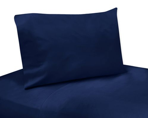 4 pc Navy Queen Sheet Set for Blue and Green Mod Dinosaur Bedding Collection - Click to enlarge