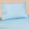 4 pc Queen Sheet Set for Blue and Brown Mod Dots Bedding Collection