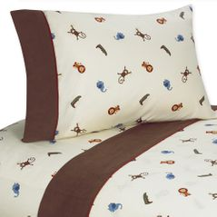 4 pc Queen Sheet Set for Jungle Time Bedding Collection