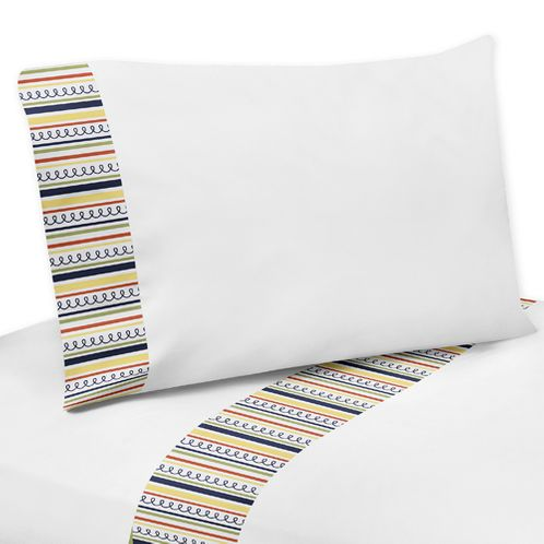 4 pc Queen Sheet Set for Modern Robot Bedding Collection - Click to enlarge