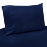 4 pc Queen Sheet Set for Navy Blue and Orange Stripe Bedding Collection - Solid Navy
