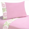 4 pc Queen Sheet Set for Pink and Lime Juliet Bedding Collection