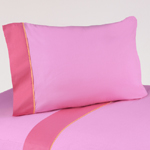 4 pc Queen Sheet Set for Pink and Orange Butterfly Bedding Collection