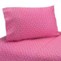 4 pc Queen Sheet Set for Pink Happy Owl Bedding Collection by Sweet Jojo Designs
