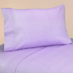 4 pc Queen Sheet Set for Purple and Brown Mod Dots Bedding Collection