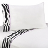 4 pc Queen Sheet Set for Purple Funky Zebra Bedding Collection