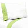 4 pc Queen Sheet Set for Turquoise and Lime Hooty Owl Bedding Collection by Sweet Jojo Designs
