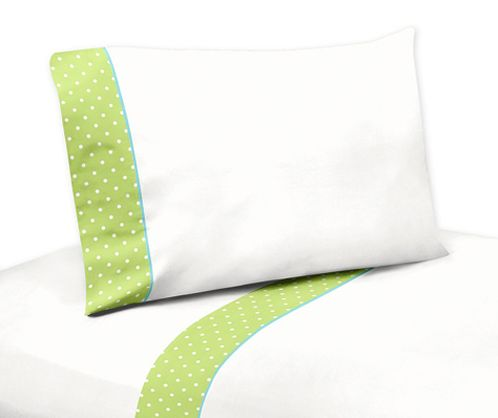 4 pc Queen Sheet Set for Turquoise and Lime Hooty Owl Bedding Collection by Sweet Jojo Designs - Click to enlarge