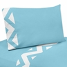4 pc Queen Sheet Set for Turquoise and White Chevron Bedding Collection