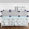 9 pc. Navy Blue, Aqua and Grey Aztec Mountains Baby Boy or Girl Unisex Crib Bedding Set with Bumper by Sweet Jojo Designs