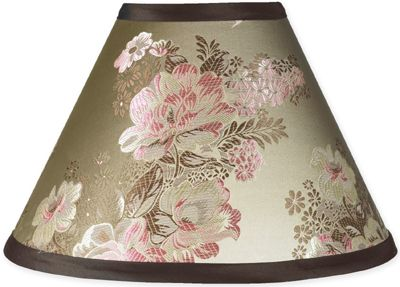Abby Rose Brown and Pink Lamp Shade - Click to enlarge