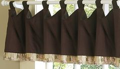 Abby Rose - Pink and Brown Window Valances - Accessories