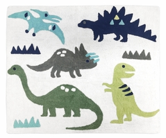 Accent Floor Rug for Blue and Green Mod Dinosaur Collection by Sweet Jojo Designs