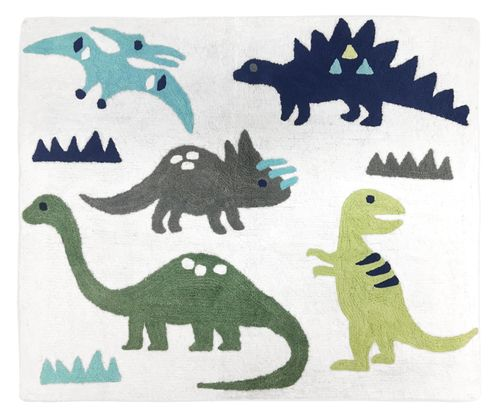 Accent Floor Rug for Blue and Green Mod Dinosaur Collection by Sweet Jojo Designs - Click to enlarge