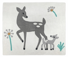 Accent Floor Rug for Forest Deer and Dandelion Collection by Sweet Jojo Designs