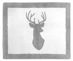 Accent Floor Rug for Grey and White Woodland Deer Collection by Sweet Jojo Designs