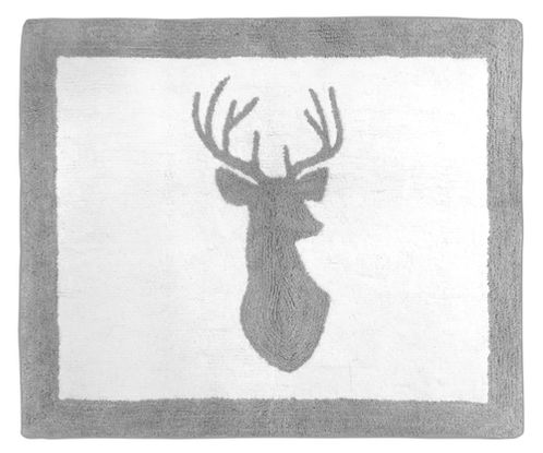 Accent Floor Rug for Grey and White Woodland Deer Collection by Sweet Jojo Designs - Click to enlarge