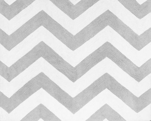 Accent Floor Rug for Turquoise and Gray Chevron Zig Zag Bedding Collection by Sweet Jojo Designs - Click to enlarge