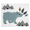 Accent Floor Rug or Bath Mat for Bear Mountain Watercolor Collection by Sweet Jojo Designs