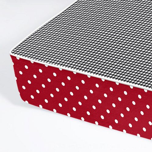 All In One - Bumper Free Fitted Crib Sheet for Polka Dot Ladybug Bedding Sets - Click to enlarge