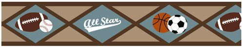 All Star Sports Baby and Kids Wall Border by Sweet Jojo Designs - Click to enlarge