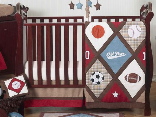 All Star Sports Baby Bedding - 11pc Crib Set - Click to enlarge