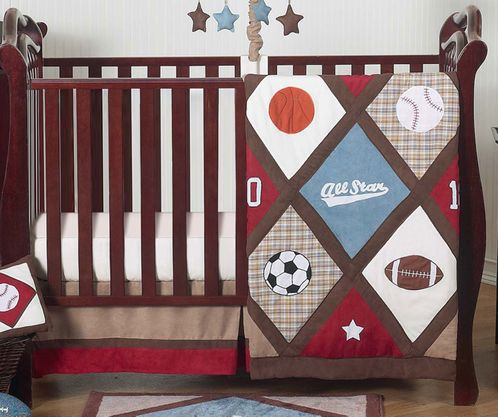 All Star Sports Baby Bedding - 4pc Crib Set - Click to enlarge