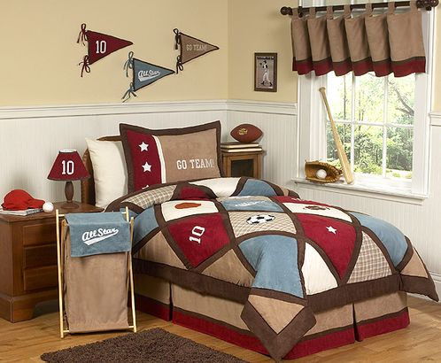 All Star Sports Childrens Bedding - 3 pc Full / Queen Set - Click to enlarge