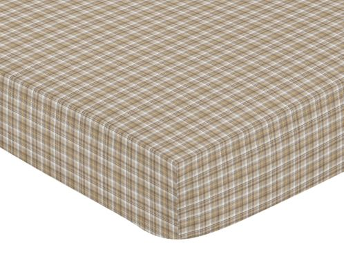 All Star Sports Fitted Crib Sheet for Baby and Toddler Bedding Sets by Sweet Jojo Designs - Plaid Print - Click to enlarge
