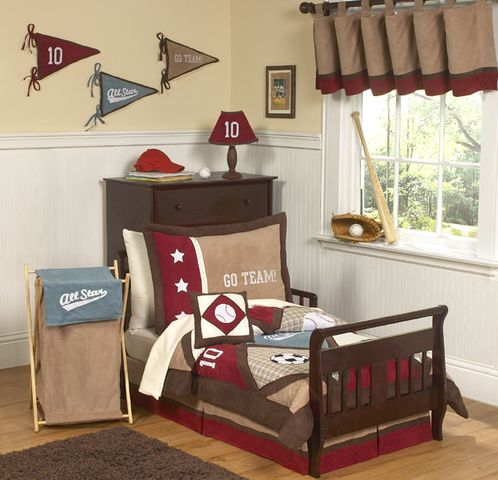 All Star Sports Toddler Bedding - 5 pc set - Click to enlarge