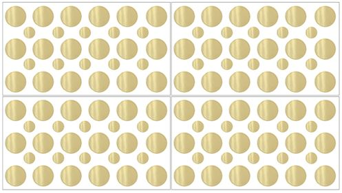Amelia Gold Polka Dot Peel and Stick Wall Decal Stickers Art Nursery Decor by Sweet Jojo Designs - Set of 4 Sheets - Click to enlarge