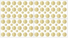 Amelia Gold Polka Dot Peel and Stick Wall Decal Stickers Art Nursery Decor by Sweet Jojo Designs - Set of 4 Sheets