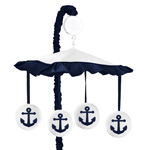 Anchors Away Musical Baby Crib Mobile by Sweet Jojo Designs