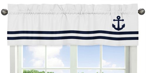 Anchors Away Nautical�Collection Window Valance by Sweet Jojo Designs - Click to enlarge