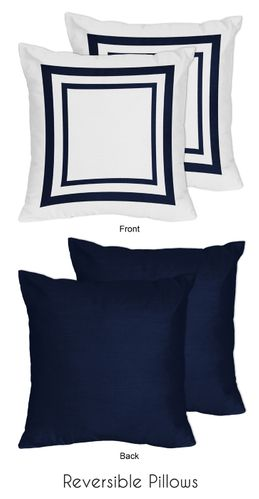 Anchors Away Nautical Decorative Accent Throw Pillows - Set of 2 - Click to enlarge