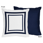 Anchors Away Nautical Decorative Accent Throw Pillows - Set of 2