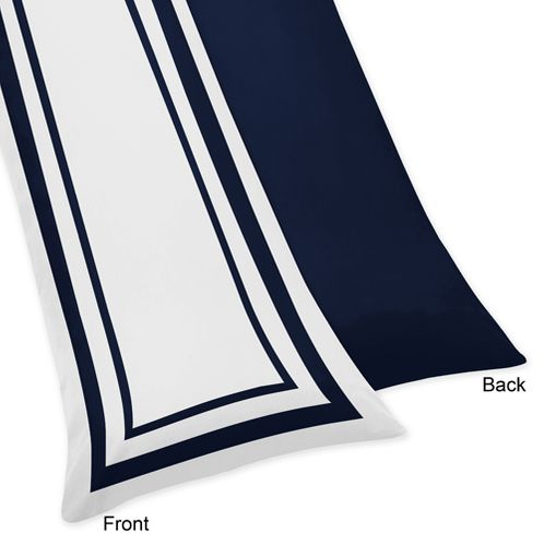 Anchors Away Nautical Full Length Double Zippered Body Pillow Case Cover - Click to enlarge