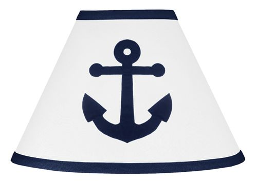 Anchors Away Nautical Lamp Shade by Sweet Jojo Designs - Click to enlarge