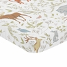 Animal Print Baby Fitted Mini Portable Crib Sheet for Woodland Toile Collection by Sweet Jojo Designs