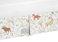 Animal Print Crib Bed Skirt for Woodland Animal Toile Bedding Sets