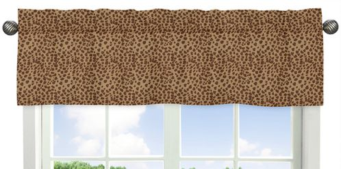 Animal Print Window Valance for Pink and Brown Cheetah Girl Collection - Click to enlarge