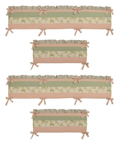 Annabel Collection Crib Bumper by Sweet Jojo Designs - Click to enlarge