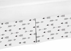 Arrow Print Crib Bed Skirt for Black and White Fox Baby Bedding Sets