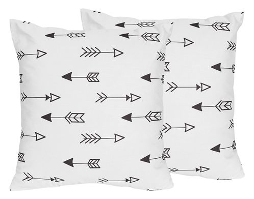 Arrow Print Decorative Accent Throw Pillows for Black and White Fox Collection - Set of 2 - Click to enlarge